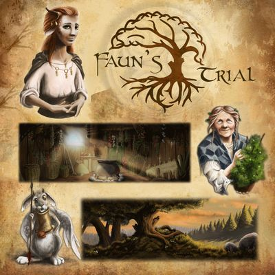 Projektcover von dem Point and Click Adventure Fauns Trial