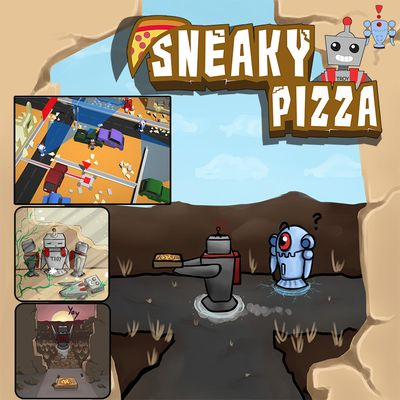 Projektcover von dem Top-down 3D Stealth Game Sneaky Pizza